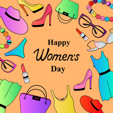 Happy Womens Day for Female clothing and accessories.