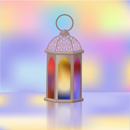 Arabian lantern. Islamic holy fast of Ramazan.