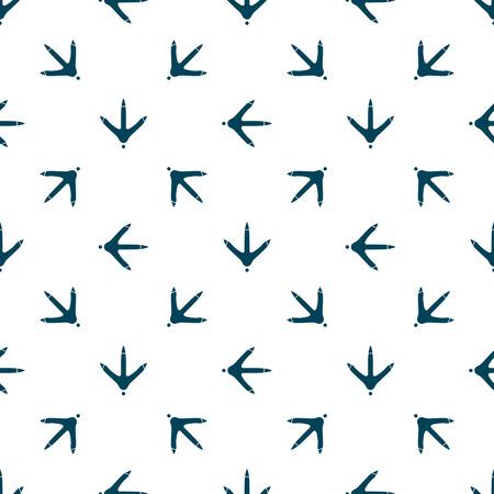 Kippenpootvoetafdruk naadloos patroon voor de stof, het behang, de banner.