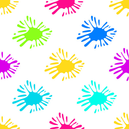 Colorful blobs of paint. Color Ink splat seamless, pattern