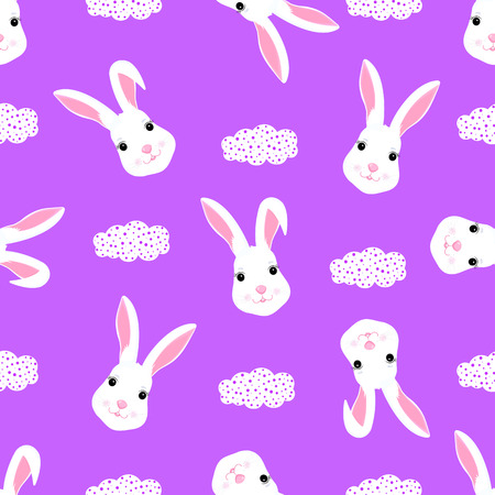 Funny white rabbit baby  for design clothes, nursery.