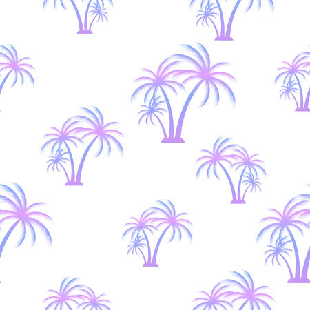 Palm tree. Seamless summer pattern. Tropical background for printing on fabric Standard-Bild - 124290237