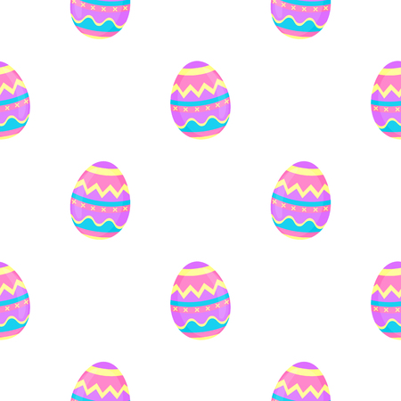 Paint eggs seamless pattern. Decorative background for Easter.