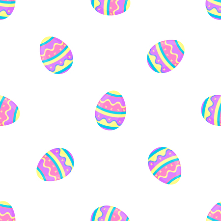 Paint eggs seamless pattern. Decorative banner for Easter.