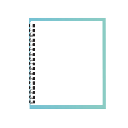 exercise books over the white background vector, illustration Vettoriali