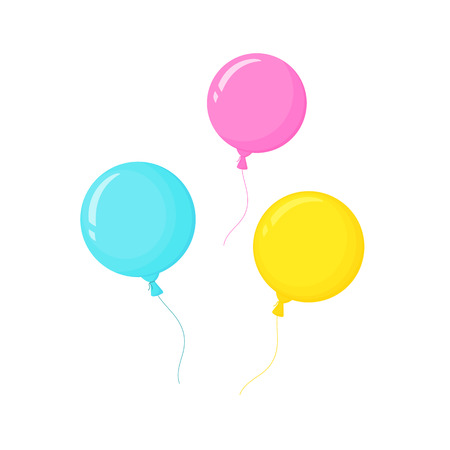 bright helium balloons. decor for birthday party Banque d'images - 123043162