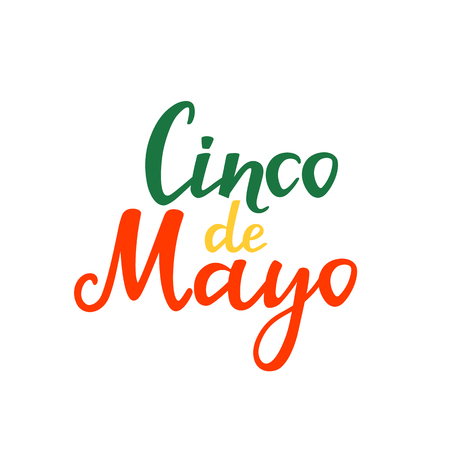 Cinco de mayo. Hand drawn lettering phrase vector isolated on white background Illustration