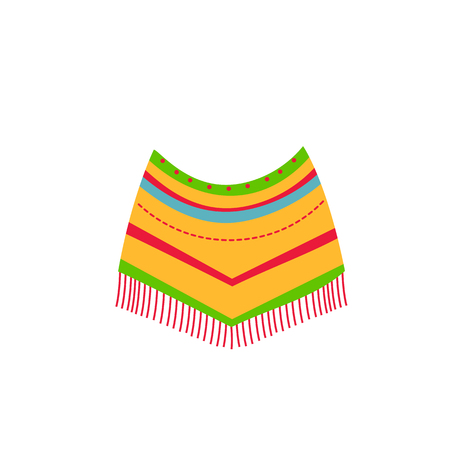 mexican native american indian poncho. Ethnic colored festival clothing
