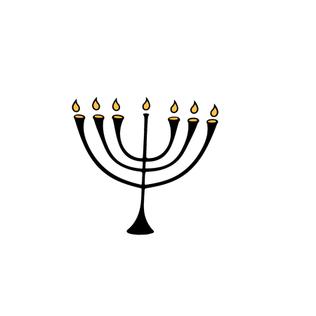 The menorah is a symbol of the Jewish festival of lights of Hanukkah.