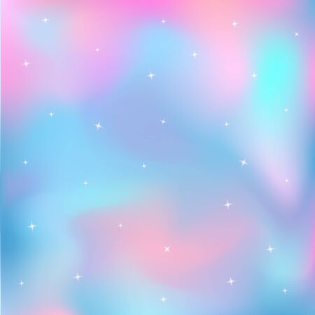 Unicorn background. Fairytale starry holographic sky. Magic galaxy. Foto de archivo - 127901255