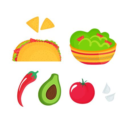 Guacamole - a dish of national Mexican cuisine. Tacos.