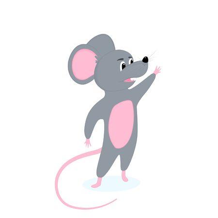 Funny cartoon rat. Symbol of Chinese New Year