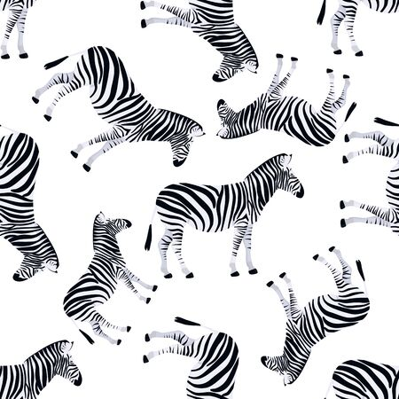 Zebra seamless pattern. Animal texture black and white. Jungle exotic background. Natural background. Fashion design.