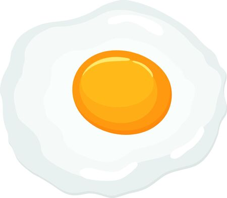 Fried egg isolated on transparent background. Vector illustration