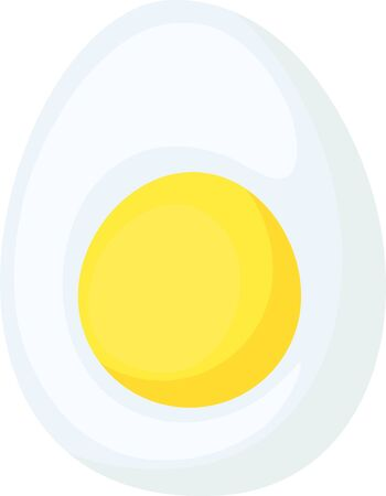 Food icon chicken eggs. Half egg with yolk. Illustration