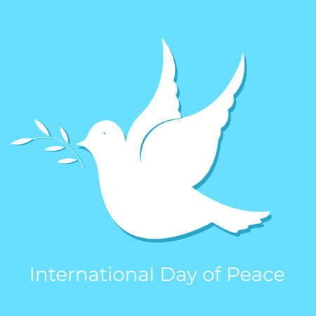 White dove. Design for the Day of Peace. Illusztráció