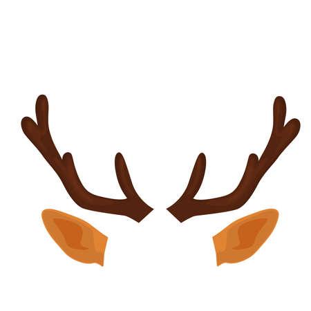 Deer Antlers and ears. Funny selfie photo mask.