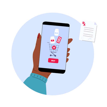 Online pharmacy. Mobile service for purchasing medicines