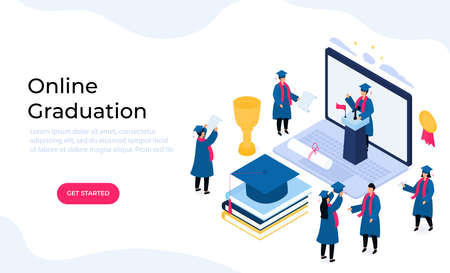 Virtual online graduation ceremony. .
