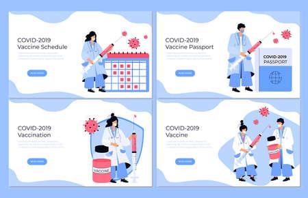COVID-19 Vaccination. Vaccine schedule. Illustration