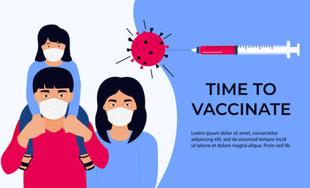 Asian Family Vaccination banner. Time to vaccinate.