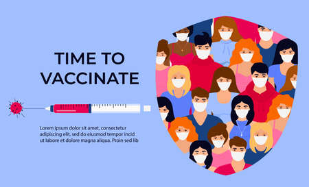 Vaccination banner. Time to vaccinate.
