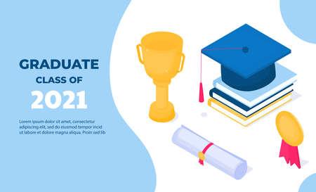 Graduation banner. Class of 2021.