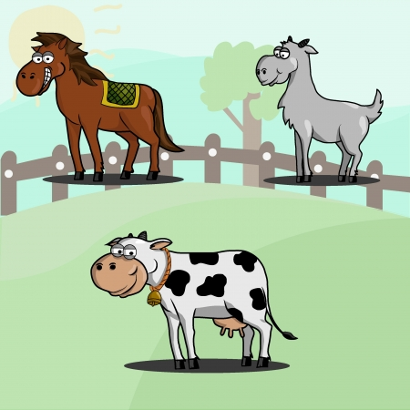 Animal set  farm  for your illustration needs and for kids drawing