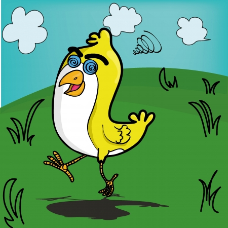 Funny little chicken for your illustration needs
