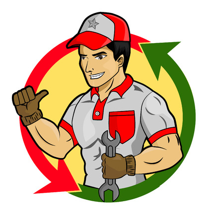 buen servicio: Ilustraci�n para un buen servicio