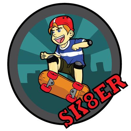 Illustration for skater boy