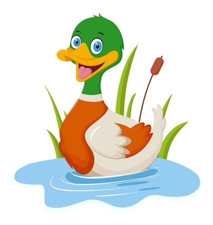 Dessin animé de canard heureux