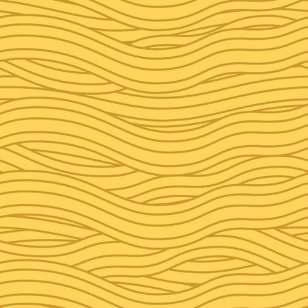 Hand drawn noodle seamless pattern background. Asian Japanese ramen noodle, spaghetti texture. Yellow noodle, Pasta noodle background. Great for menu design.