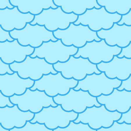 Clouds seamless pattern. Sky background. Retro Ornament for Cloth 向量圖像