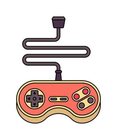 Joystick isolated. Retro Gamepad. VideoGame Controller old Illustration