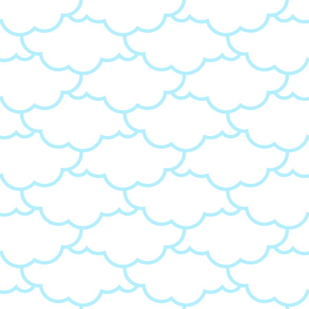 Clouds seamless pattern. Sky background. Retro Ornament for Cloth Çizim