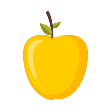 Golden fruit illustration.