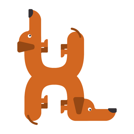 Letter H dog illustration. Illustration