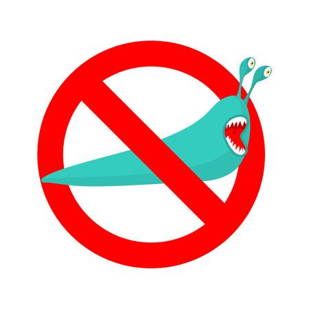 Stop slug. Illustration