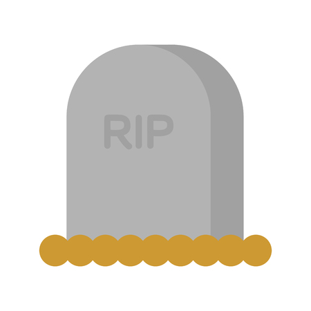 Gravestone isolated. Illustration