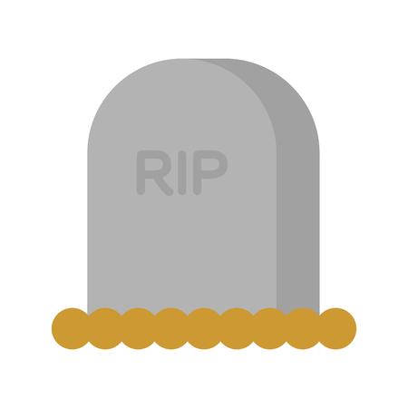 grave stone: Gravestone isolated. Illustration