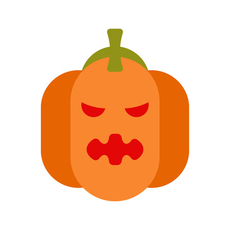 cute ghost: Angry pumpkin for halloween. Illustration