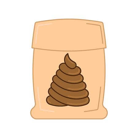 turd: Poop bag isolated. Illustration
