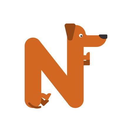 Letter N pattern. 矢量图像