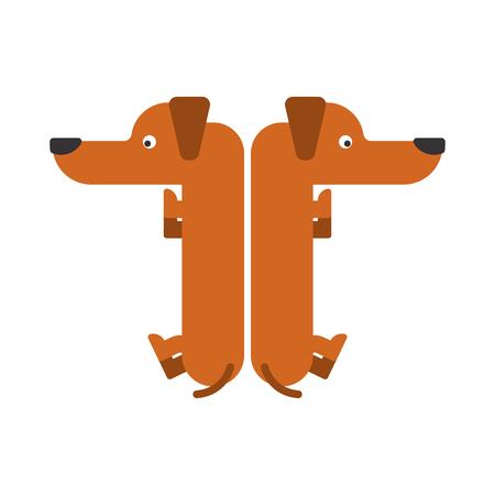 Letter T dog illustration. 矢量图像