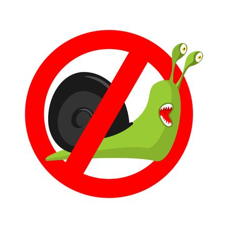 Stop snail. 矢量图像