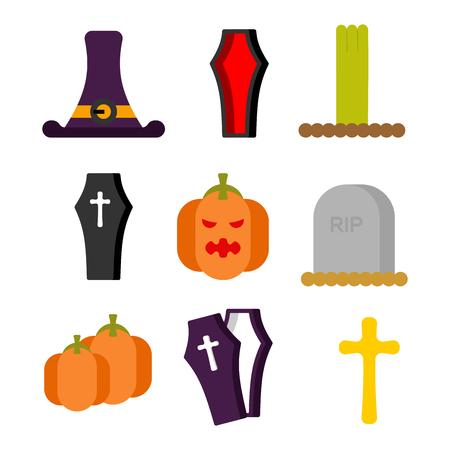 Halloween set icon.