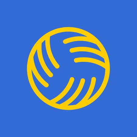 Bal voor spelen op waterspellen pictogram.