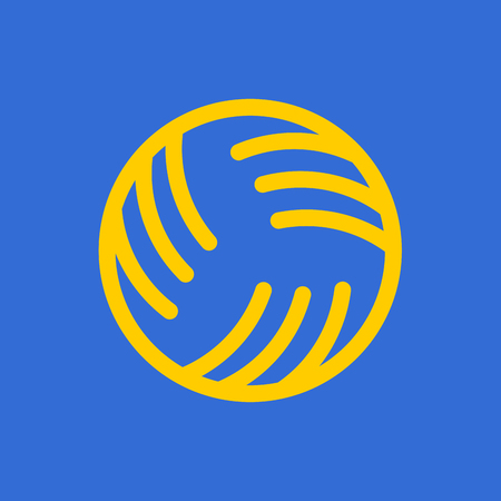 Ball for playing on water games icon. 矢量图像