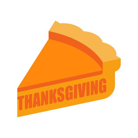 Thanksgiving piece of pumpkin pie. Illustration